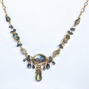 Labradorite & 14-karat yellow gold filled necklace